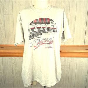 Vintage 1996 Cheers Bar in Boston Gray Tee Shirt